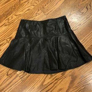 Free People Faux Leather Mini Skirt NWOT